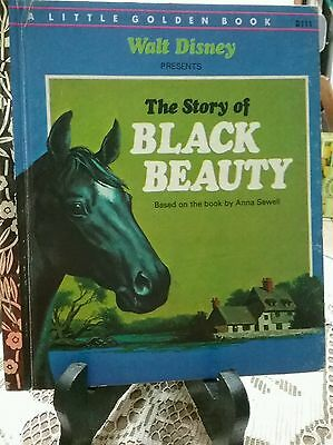THE STORY OF BLACK BEAUTY Little Golden Book 1973 H/C (Almost Like New)