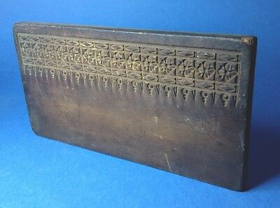 Antique RARE Confectioners Pastillage Icing Mould C18th / 19th Carved Hardwood