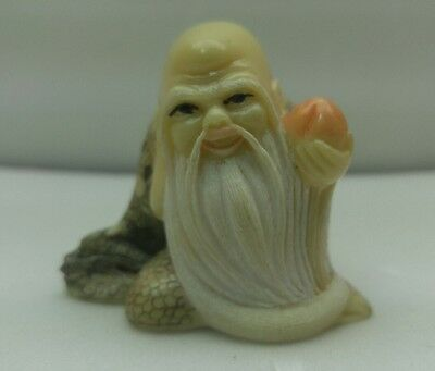 antique japanese hand carved and signed netsuke wise man