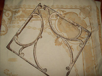 Antique cast iron shelf brackets LARGE and HEAVY, two (2) pieces