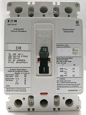 Cutler-Hammer EHD3070 Molded Case Industrial Circuit Breaker