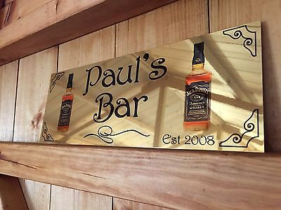 aluminium sign personalised bar shed large wall plaque. Black Bedroom Furniture Sets. Home Design Ideas