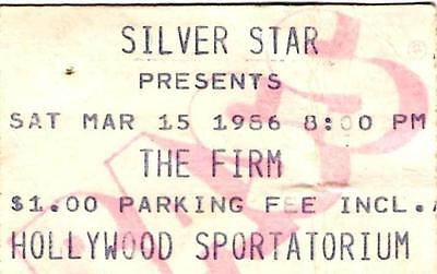 THE FIRM Ticket Stub MARCH 1986 - Hollywood Sportatorium, Florida