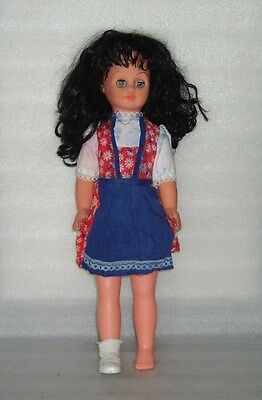 VINTAGE Spielzeug Rauenstein? 50 CM PLASTIC AND RUBBER DOLL, GERMANY-GDR, 1970s