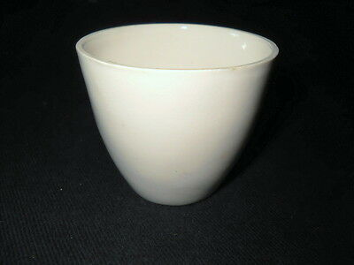 Unbranded Glazed Porcelain 100mL Tall Form Crucible Cup, 64mm OD x 55mm