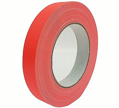 NEON Gaffa Tape Klebeband Orange UV-aktiv 19mm x 25m Gewebeband Panzertape