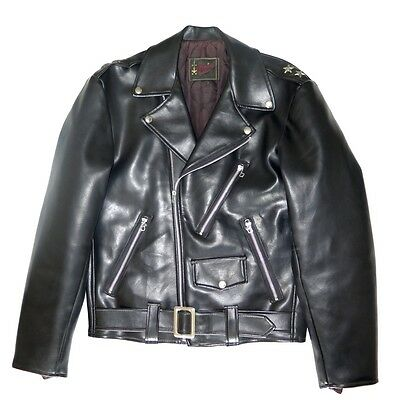 VINTAGE ORIGINAL MOTORCYCLE JACKET FAUX LEATHER 1950's ADMIRAL SIZE 36 MEDIUM