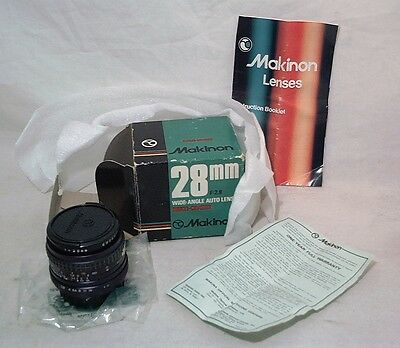 Makinon 28Mm 2.8 Fast Wide Angle For Rollei Slr Minty Clean In Ob W/ Everything