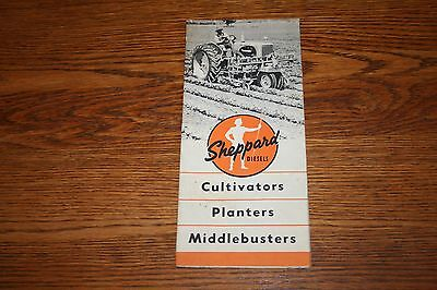 Sheppard Diesel Tractors Cultivators Planters Middlebusters Advertising Sales B