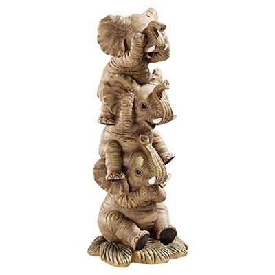 Design Toscano Statues The Hear-No, See-No, Speak-No Evil Elephants Natural