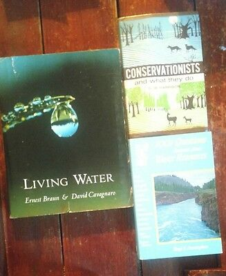 lot of 3 books living Waters conservationists and what they do