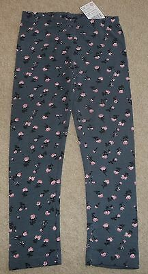 Pumpkin Patch Girls Size 5 Rose print grey leggings - New with Tag! Powder Room