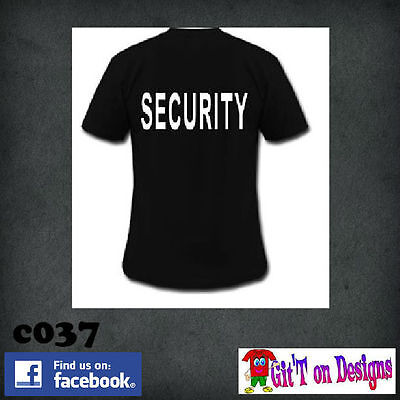 """SECURITY"" T Shirts & HOODIES  S - 5XL  ""FREE POSTAGE"""