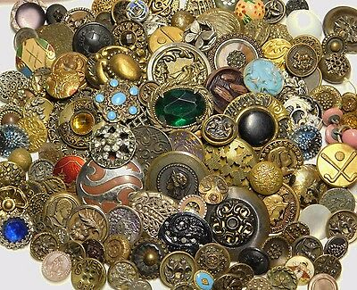 Large ANTIQUE Vintage BUTTON Lot VICTORIAN Estate 1800's to 1900's