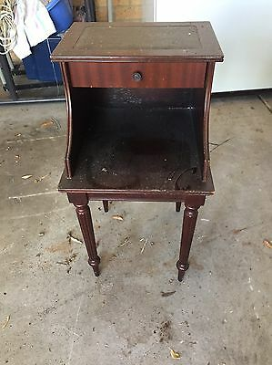 Antique timber telephone table with drawer