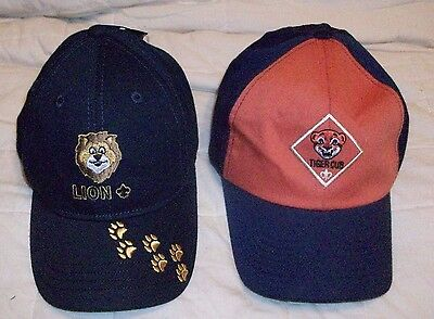 NEW BSA Boy / Cub Scouts of America LION Toddler and TIGER CUB Size M/L Cap Hats