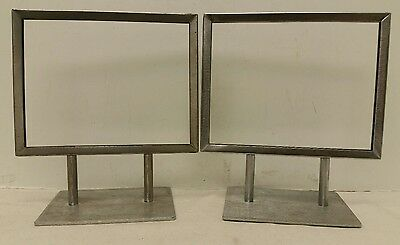 """Set Of 2: 5""""X7"""" Department Store Advertising """"Sign Display Holder"""" Photo Frames"""