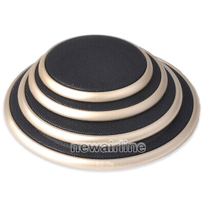 """4/""""//5/""""//6.5/""""//8/""""//10/"""" inch Speaker Cover Decorative Circle Metal Mesh Grille #Golden"""