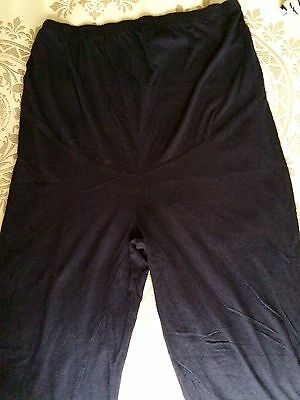 H&M Mama Solid Navy Blue Knit Maternity Lounge Pant Legging Size S Small