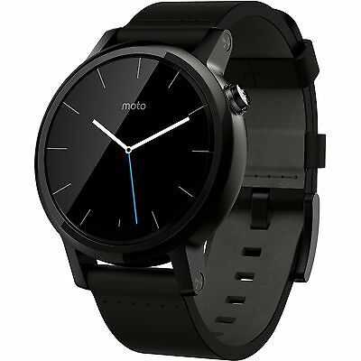 *BRAND NEW* Moto 360 2nd Gen 42mm Android / iOS Smartwatch Black Leather