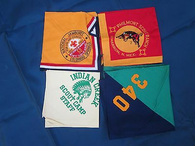 Vintage Boy Scout Neckerchiefs Lot Of 4 One Full Square