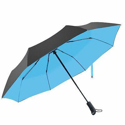 Atree Compact Folding Travel Umbrella Auto Open and Close Double Canopy 46 inch