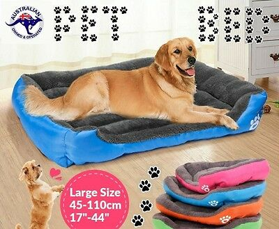 Pet Bed Mattress Dog Cat Pad Mat Cusion Soft Winter Warm Washable S M L XL XXL