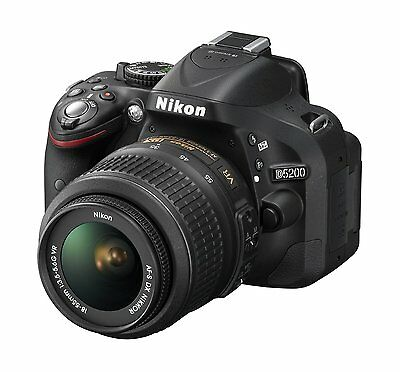Nikon D5200 24.1 MP DSLR (Kit w/ AFS VR 18-55mm Lens) Shutter count 4366! AS NEW