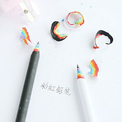 NEW 3PCs Rainbow Pencils Drawing Painting Pencils Stationery Black and White HOT