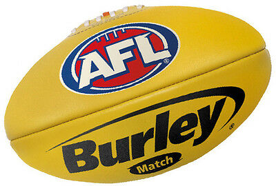 Burley Match Full Size Leather AFL Football Red and Yellow Available