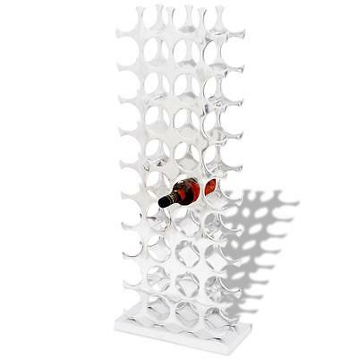 Aluminium Wine Rack Stand Holder for 40 Bottles Silver E2B8