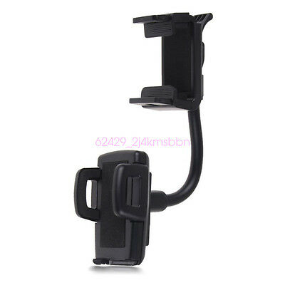 360° Car Rearview Mirror Mount Cell Phone Holder Bracket Universal For Phone GPS