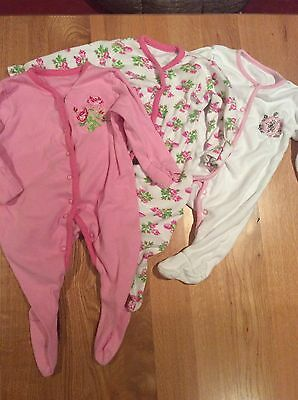 John Lewis rompers/ sleepsuits Babygrows aged 0-3 months