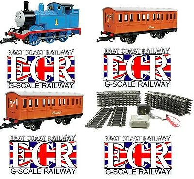 New Bachmann 90068 G Scale Thomas Annie Clarabel Set Steel Alloy Track Controls