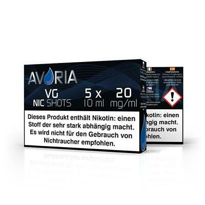 AVORIA Nikotin Shot  20mg/ml 5x10ml VPG/PG/VG/H²O Liquid Basen Base