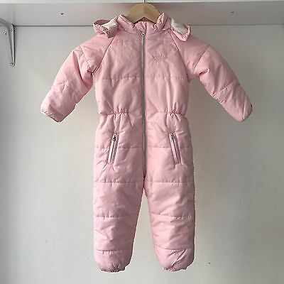 Tommy Hilfiger Infant Baby Puffer Snowsuit Bunting, Size 18-24 Months