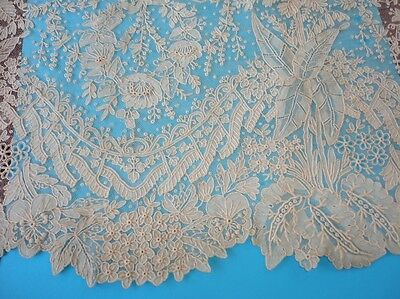 """Antique Lace Edging (NOS) Unused, Stunning Floral and Leaves 7"""" x 60""""  NR"""
