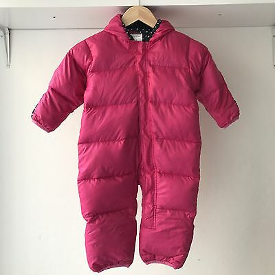 Columbia Snuggly Toddler Infant Puffer Snowsuit Bunting, Size 24 Months