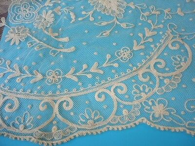 """Antique, Unused Lace 24"""" x 34"""" Hand Made (?)  NOS NR"""