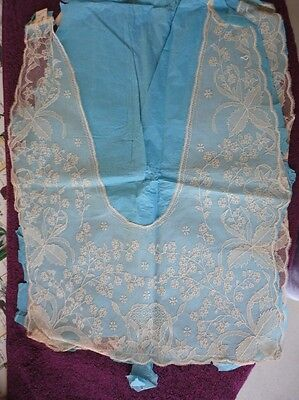 2 Antique Lace net Collars, Unused NOS, still on paper w/ tags NR