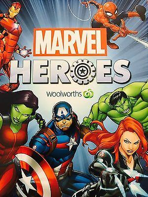 "4 ""GENUINE"" WOOLWORTHS MARVEL HEROES DISCS- ANY 4 discs for $1.00"