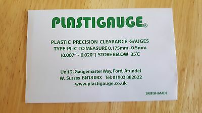 Plastigauge Engine Bearing Clearance Gauge PL-C 0.175mm-0.5mm Green