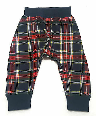 NWT Size 6-12 months Rock Your Baby tartan slouch pants