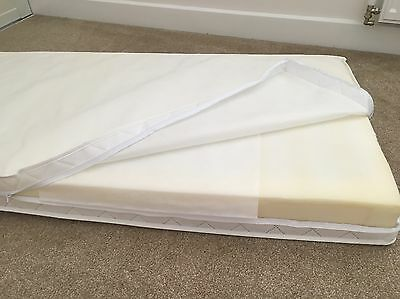 Cot Mattress 120 x 60 With Zipped Protection & Quilted Texture