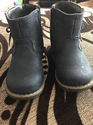 Baby Girls Shoes Infant Size 4 Chelsea Boots Blue