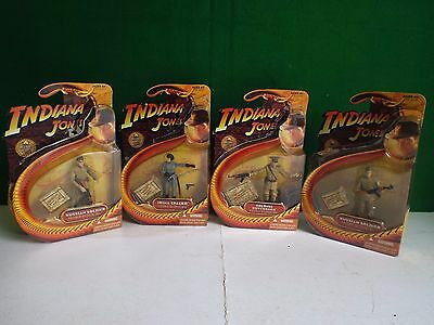 Indiana Jones Job Lot Of 4 X  Action Figures With Cards 2008 (D)