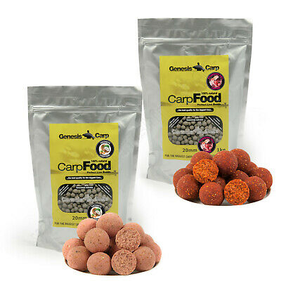 Carp Boilies 20mm 1kg Strawberry Krill - Coconuts Hook Bait Fishing Session Pack
