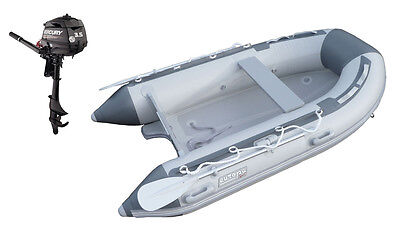 NEW Europa Sport 2.7m Inflatable Boat V Air Floor RIB + Mercury 3.5hp outboard