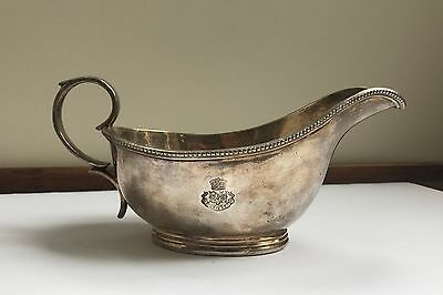 Antique Silver-Plated Gravy Boat