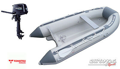 NEW Europa Sport 3.2m Inflatable Boat V Air Floor RIB + Tohatsu 6hp outboard